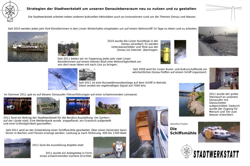 Informationstafel auf der Kulturlände, Foto: STWST