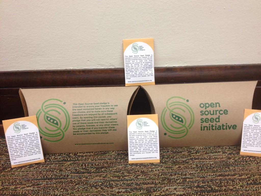 Die Open Source Seed Pledge, die allen Saatgutpackungen beiliegt.