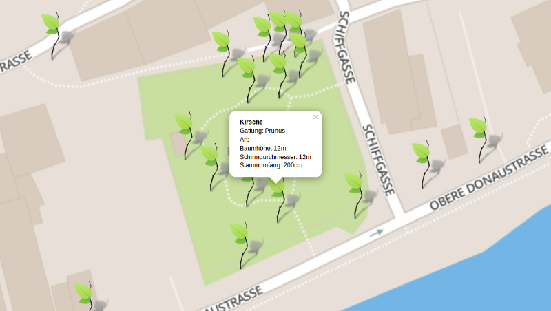 Erstmals scheinen auch die Obstbäume im Donaugarten Alt-Urfahr im Baumkataster auf.